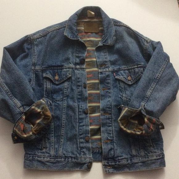 8be5100ed19 Levi s Other - Vintage Levis Trucker Jacket Coat Aztec Lined M